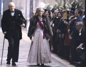 John Lithgow as Churchill at a royal procession