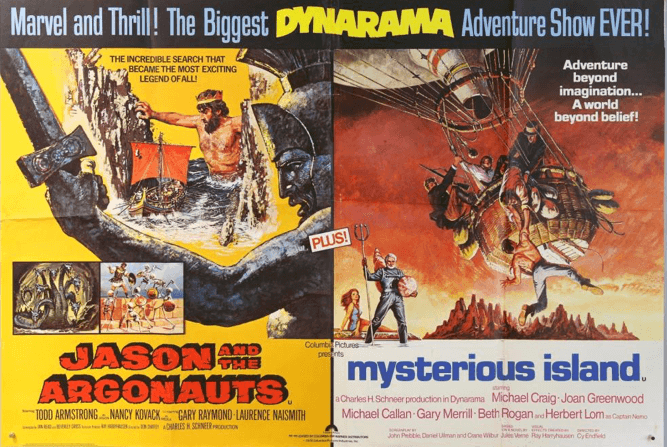 Jason and the Argonauts and Mysterious Island posters