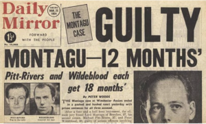 Daily Mirror newspaper cover with headline about Lord Montague