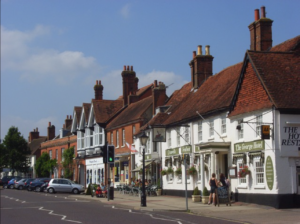 Odiham High street in Hampshire