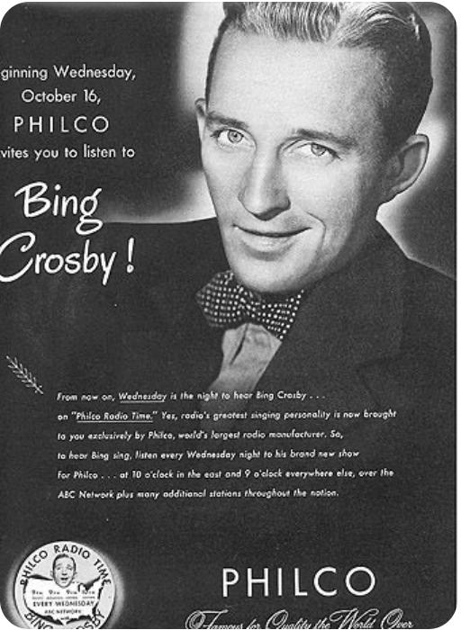 Bing Crosby radio show poster